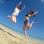 ご友人と体験ダイビングに参加された女性